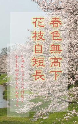 春色無高下 花枝自短長