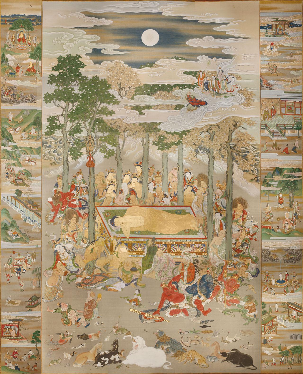 中山寺蔵涅槃図