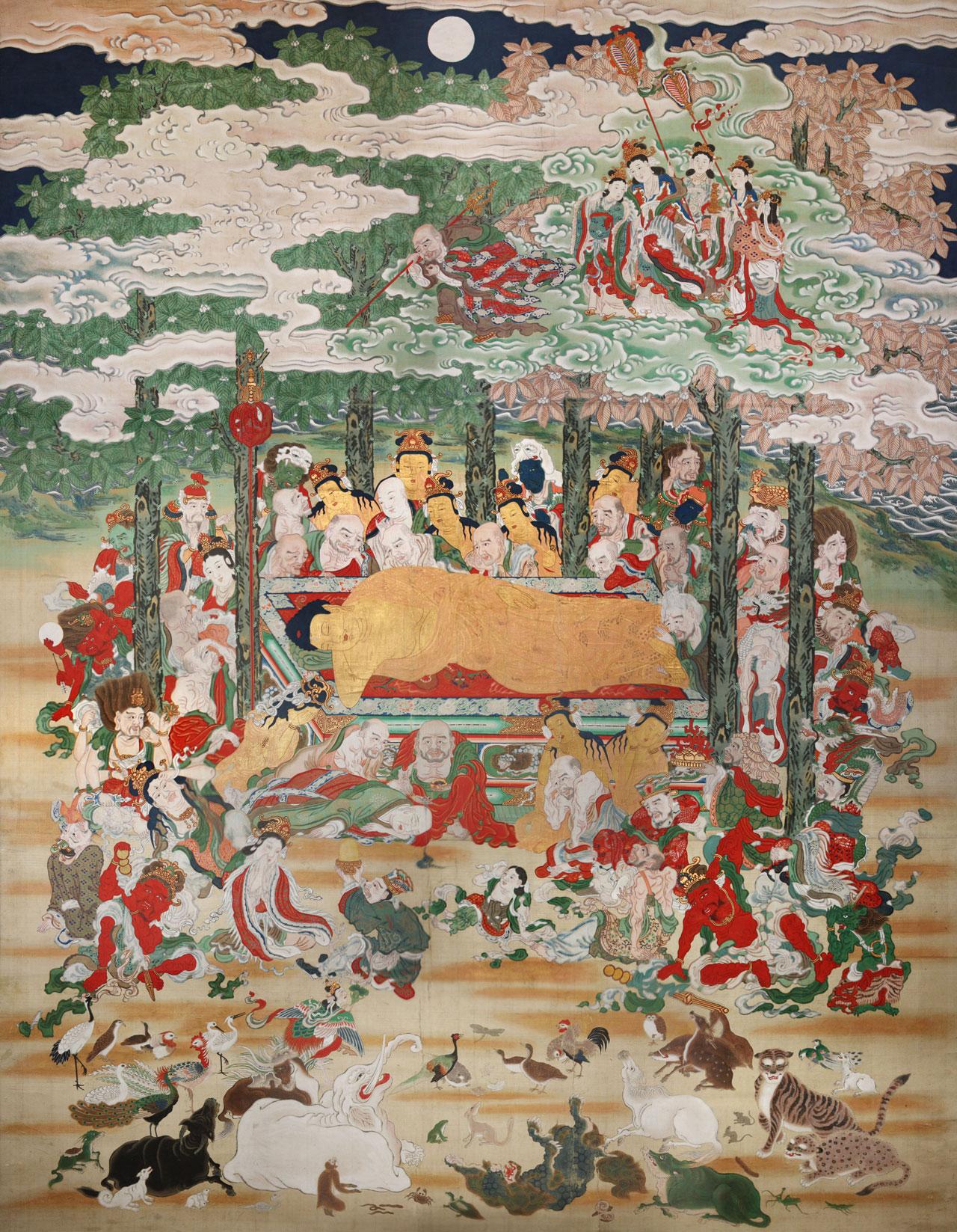 少林寺蔵涅槃図